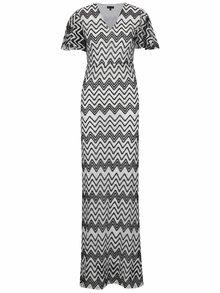 Čierno-biele čipkované maxišaty Mela London