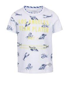 Biele chlapčenské tričko s potlačou name it Farli