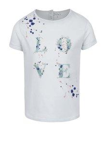 Tricou albastru deschis name it Tisla din bumbac cu print pentru fete