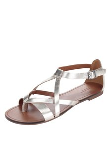 Dámské kožené sandály ve stříbrnozlaté barvě Vagabond Tia