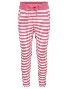 Pantaloni sport alb & roz name it Tisa din bumbac cu model în dungi pentru fete