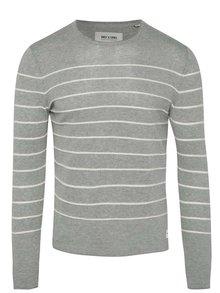 Bluză gri cu dungi ONLY & SONS Arlan din jerseu