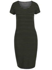 Černo-zelené pruhované šaty VERO MODA Jacinta