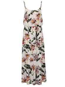 Rochie maxi crem ONLY Nova cu imprimeu floral