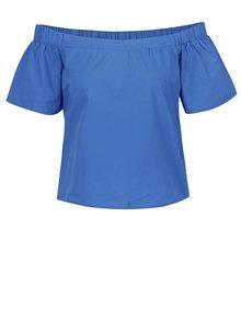 Modrá halenka s odhalenými rukávy ONLY Pop-Popeline