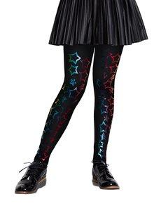 Čierne dievčenské pančuchy s motívom hviezd Penti Stardust 40 DEN