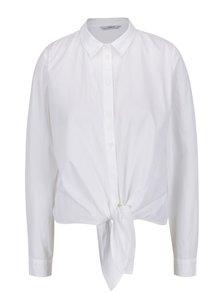 Bílá košile s uzlem ONLY Allison