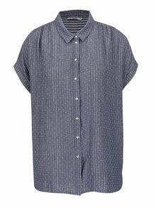 Sivomodrá voľná košeľa s jemným vzorom ONLY Prime