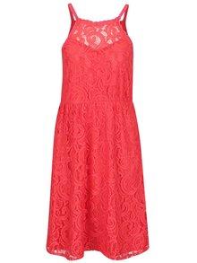 Červené čipkované šaty VERO MODA Thea