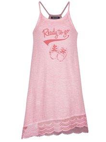 Ružové dievčenské asymetrické šaty Blue Seven