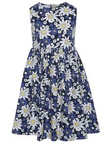 Modré kvetované dievčenské šaty Blue Seven