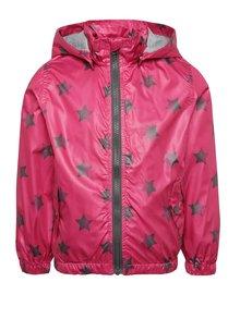 Jachetă roz cu model cu steluțe Blue Seven pentru fete