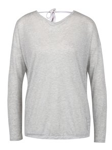 Sivé tričko s prekladaným zadným dielom a prestrihmi Bench