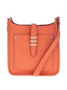 Oranžová crossbody kabelka s detailmi v zlatej farbe ALDO Peririen
