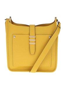 Žlutá crossbody kabelka s detaily ve zlaté barvě ALDO Aciri