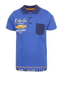 Modré klučičí polo triko s potiskem Blue Seven