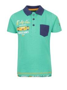 Zelené klučičí polo triko s potiskem Blue Seven