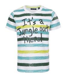 Tricou alb cu print Blue Seven pentru băieți