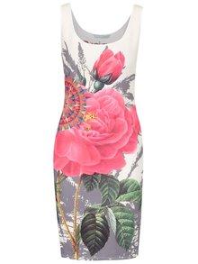 Ružovo-béžové kvetované šaty Desigual Sharyka