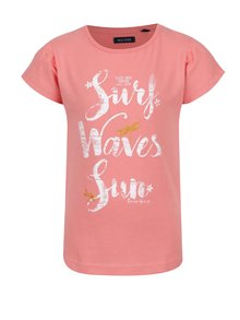 Tricou roz cu print Blue Seven pentru fete