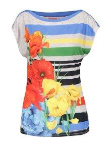 Tricou multicolor Desigual Sarita cu imprimeu