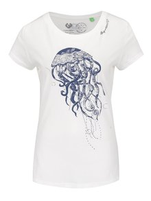 Bílé dámské tričko s potiskem Ragwear Mint B Organic
