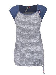 Modro-šedé dámské vzorované tričko bez rukávů Ragwear Mike C