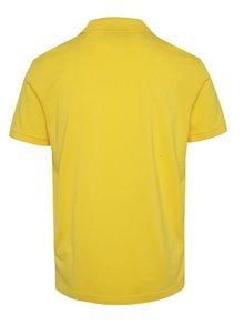 Žltá pánska polokošeľa GANT Original Pique