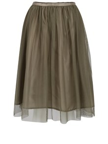 Kaki tylová sukňa ZOOT