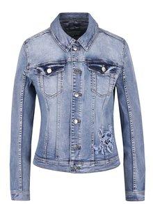 Modrá džínová bunda s výšivkami VILA Demand