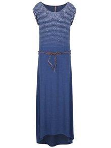Modré vzorované maxišaty s opaskom Ragwear Tag Long