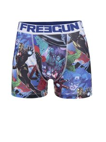 Boxeri negru & albastru Marvel Freegun cu imprimeu