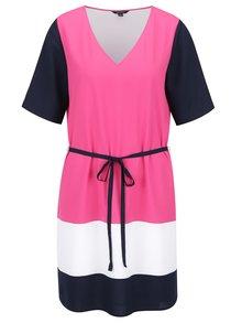 Růžové šaty s pruhy Nautica