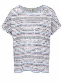 Světle šedé dámské vzorované oversize tričko Ragwear Tribe A Organic
