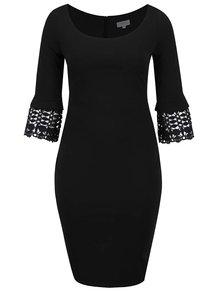 Rochie neagră cu detalii din dantelă Goddiva