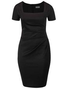 Černé plus size pouzdrové šaty s tvarovaným výstřihem Goddiva