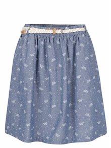Modrá bodkovaná sukňa s potlačou motýľov Ragwear Mare B