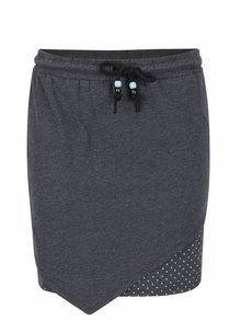 Tmavosivá sukňa s bodkovanou podšívkou Ragwear Ramona B