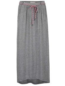 Tmavě šedá žíhaná maxi sukně Ragwear Glen
