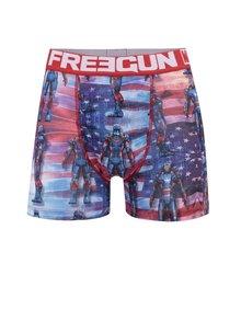 Modro-červené boxerky s potiskem Marvel Freegun
