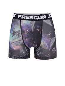 Boxeri negru & mov Star Wars Freegun cu imprimeu