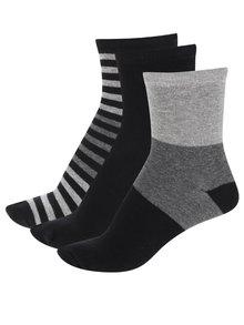 Set gri&negru cu 3 perechi de șosete 5.10.15. pentru băieți