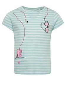 Tricou turcoaz&crem 5.10.15. cu model în dungi