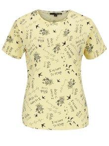 Žluté vzorované tričko TALLY WEiJL