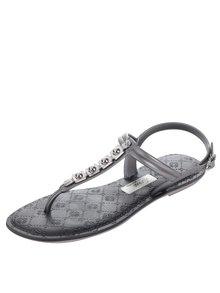 Sandále v striebornej farbe Grendha