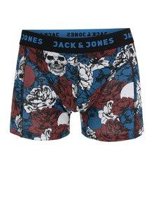 Modré boxerky s motivem lebky Jack & Jones Mount