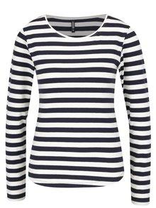 Bluză crem&albastru Haily´s Tina cu dungi