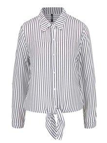 Modro-bílá volná pruhovaná košile s uzlem Haily´s Alexandra