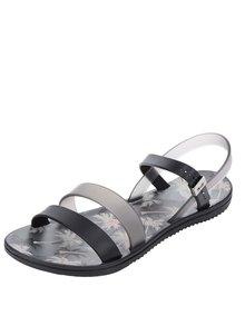 Čierne dámske sandále s tropickým motívom Zaxy