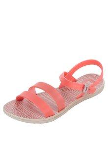 Sandale roz neon Zaxy cu barete subțiri